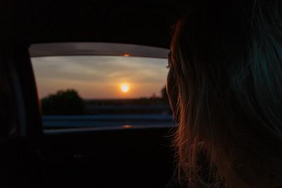 My wife admiring the sunset in Sri Lanka
