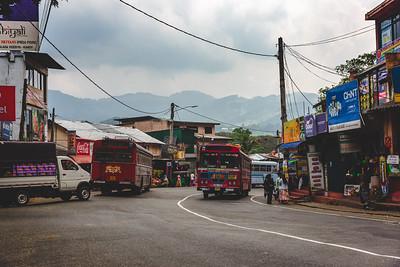 Sri Lankan road through the countryside