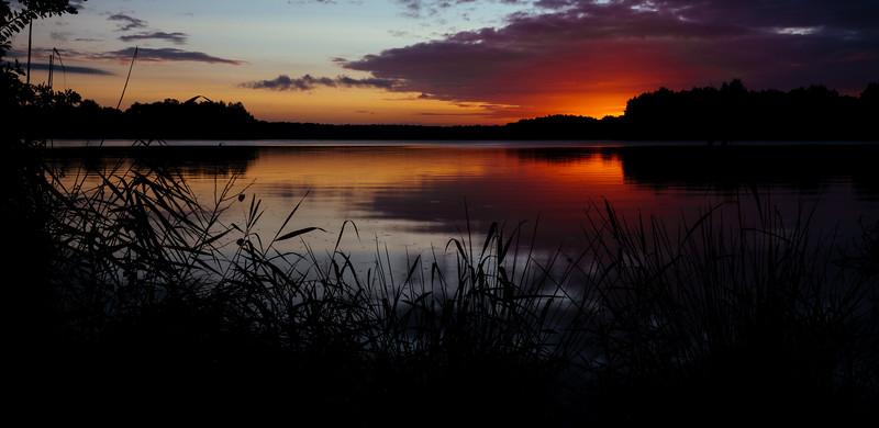 Sunrise at the Altwarmbüchener See