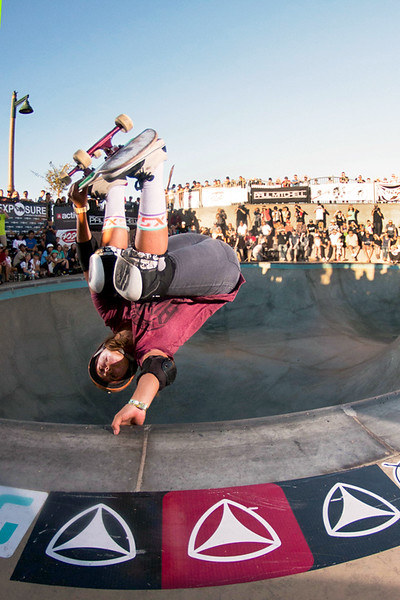 Hunter Long, fully inverted in the bowl.