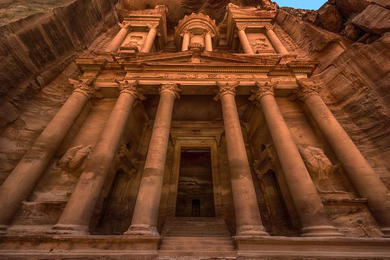 The Treasury in Petra Jordan