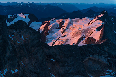 Sunrise over the Purcell mountains
