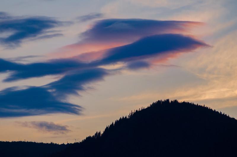 Sunset over the Kootenay mountains