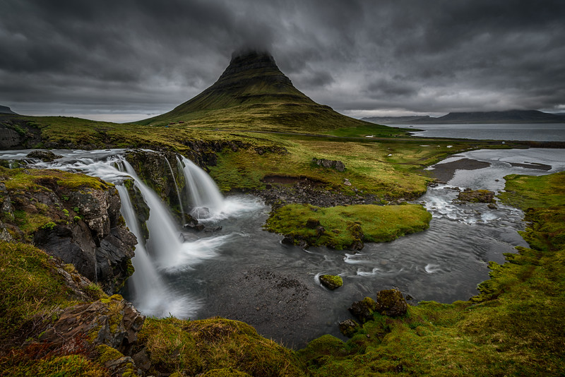 Kirkjufell mountain and waterfalls