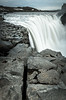 Iceland's Dettifoss waterfall seen from it's eastern edge