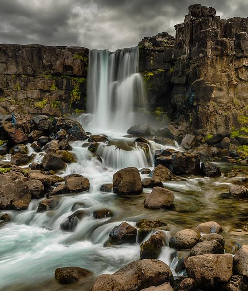 Öxarárfoss waterfall