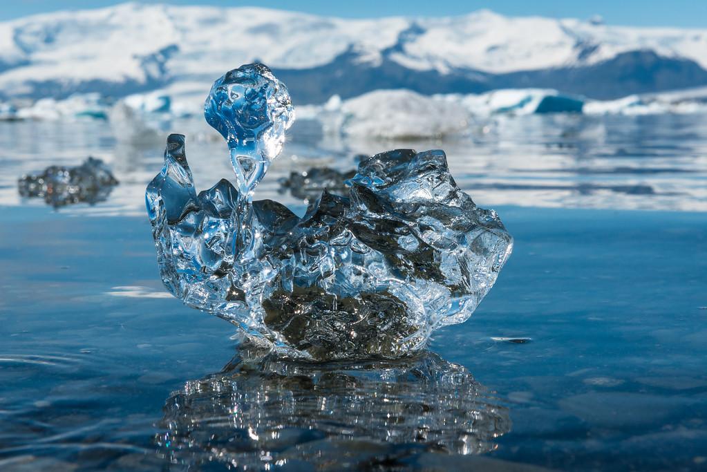 Iceberg in Jökulsárlón glacial lagoon Iceland