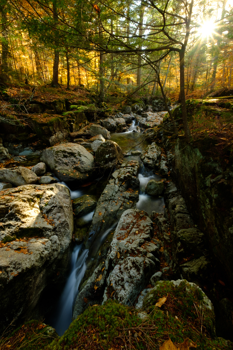 Sunset at the Gill Brook Flume