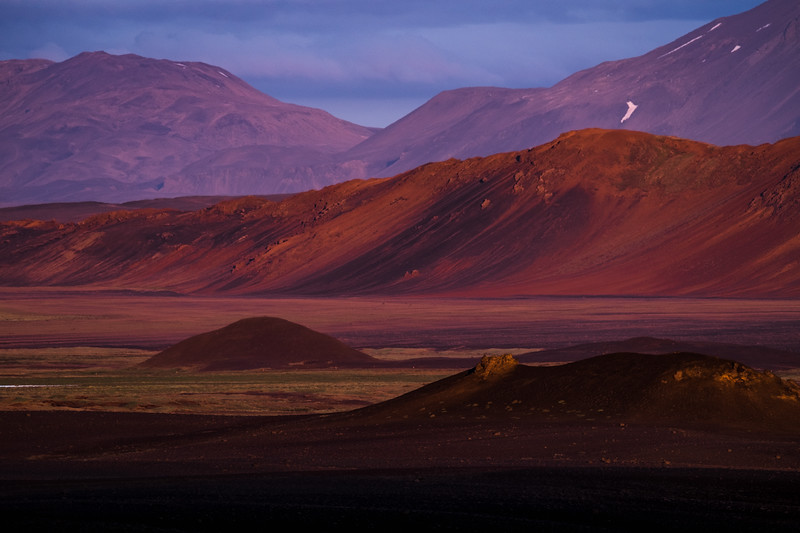 Sunrise in the Ódáðahraun desert