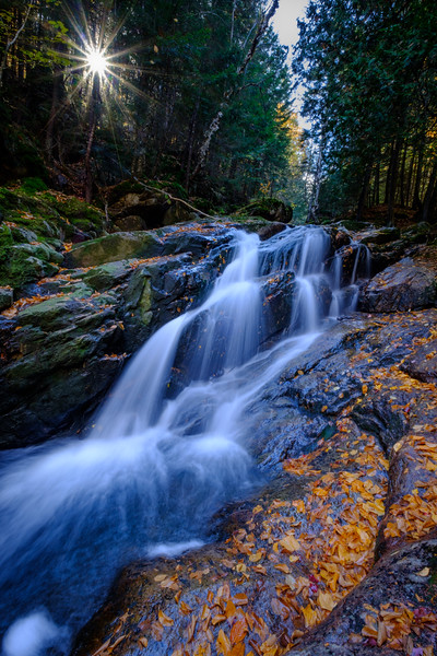 Waterfall in Mont Tremblant park