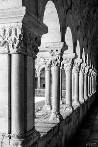 Colonnade at the Catedral de Girona