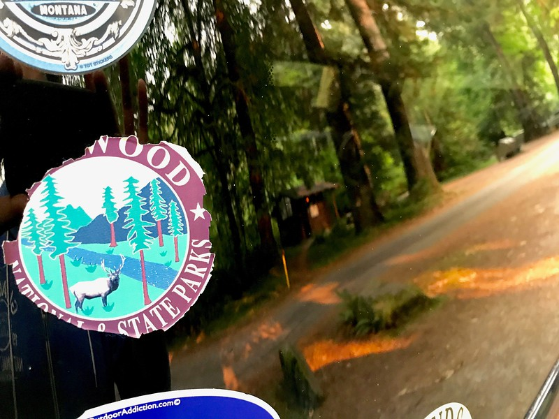 Motivation: One of the reasons we returned to this park was to get a new Redwood sticker for the Element.
