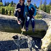 Winston was not happy he couldn't jump onto the log with me/Photo by Susie.