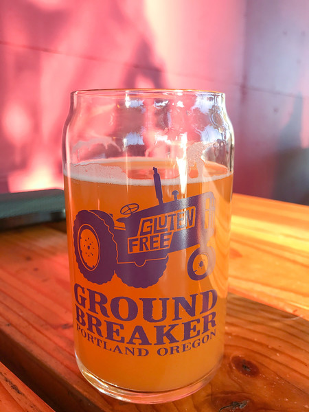 The weather was absolutely fantastic, so the mutts joined us outside at Ground Breaker Brewing. We stocked up on a gluten-free version of a weizen beer, my favorite from before I figured out my food allergies.