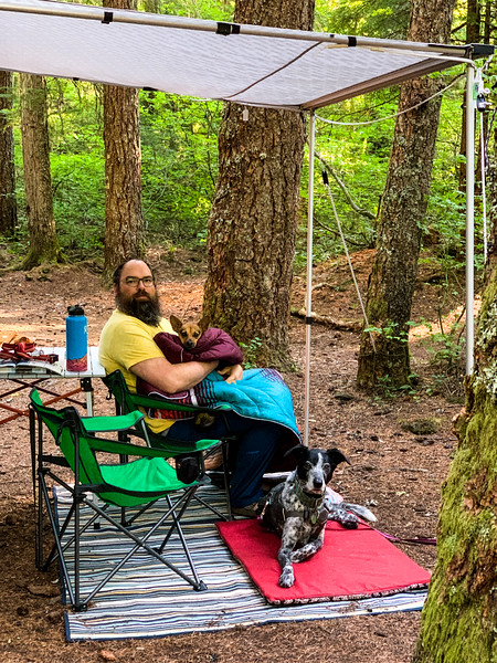 We had a forest service campground to ourselves for most of two days at the start of Labor Day weekend.