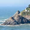 We headed south that afternoon. The viewpoint of Heceta Head Lighthouse was so freaking windy.