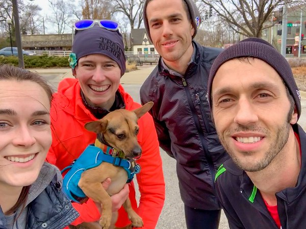 Lindsey and I met Christmas Eve in Lawrence for some trail time while her husband and a friend ran the levee: https://connect.garmin.com/modern/activity/3244824546.