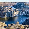Tully and I ran along the Snake River Canyon the next morning to Snoshone Falls.