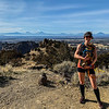 Tully and I ran an 8.5-mile loop to the summit and around the rock formations.