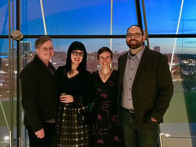 """In fact, we've been to Kauffman with our friends Greg and Sam lots. They just moved less than a mile from our house, and now we're leaving them! Wah!<br /> <br /> This photo is from Before """"A Midsummer Night's Dream"""" this October/Photo by random ballet attendee."""