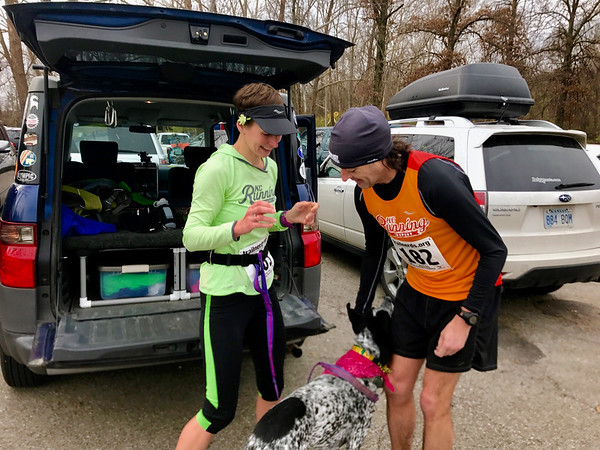 Ken, like me, runs both pavement and dirt. He and I have carpooled to several races and run a couple together when neither of us felt like pushing it/Photo by Christy Swearingen.