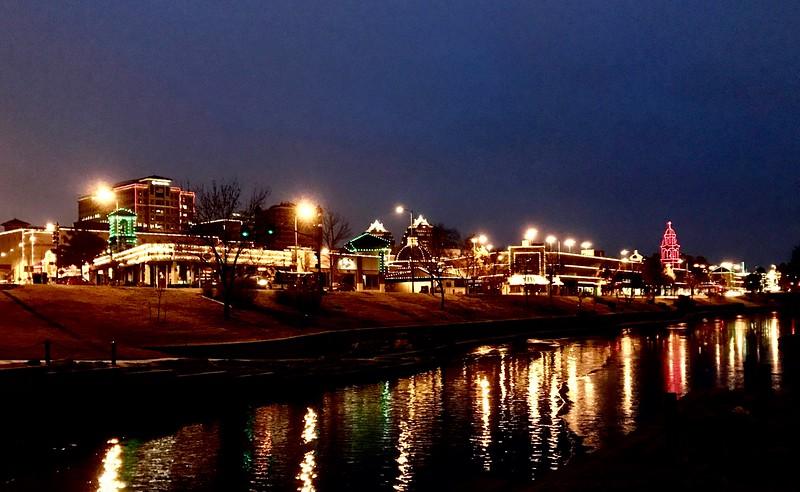 Plaza lights on my sunrise Ward Parkway run this week.