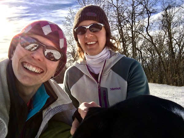 """Jennifer and I met not even two years ago. We had each beaten the other at a couple of Trail Nerds races and cooled down together. Because our paces are so close, we thought we'd be good for each other's training. Mikey calls her my """"NBF,"""" short for New Best Friend, because we hit it off so well so fast! Our conversations usually ended with, """"I do that, too!"""" or """"My husband says that about me, too!""""   That wonderful lady is starting our big adventure with Winston and me. We're picking her up early tomorrow morning, and we're going to go play in Colorado Springs for a day."""