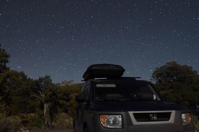 This was my first go at night sky photography, thanks to the new camera and mini tripod.