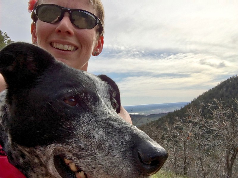 """Friday morning, all three of us went to Deer Creek Canyon. This time, I didn't lose my phone or encounter snow, so Winston (whose tail was healing) and I actually got to finish the Red Mesa Loop while Mikey hiked the lower loop: <a href=""""https://connect.garmin.com/modern/activity/1166529578"""">https://connect.garmin.com/modern/activity/1166529578</a>."""