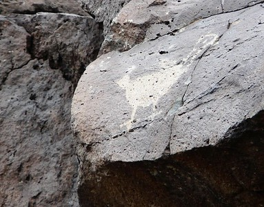 In 2014, we hiked the Piedras Marcadas Canyon area of Petroglyph, which had a more concentrated collection of petroglyphs.
