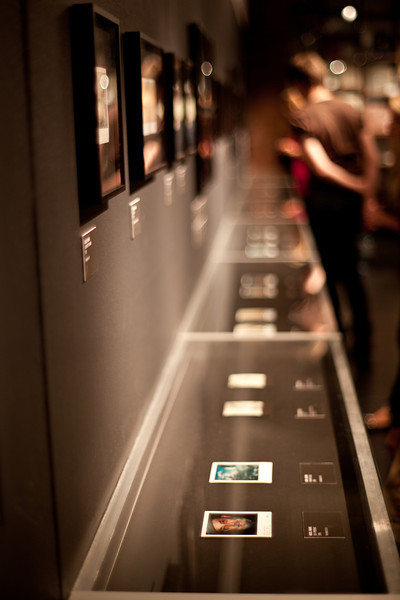 "This is the exhibition of ""Polaroid [im]possible, The Westlicht Collection"" at Westlicht in Vienna.<br /> In the very front there is a small Polariod of Ansel Adams"