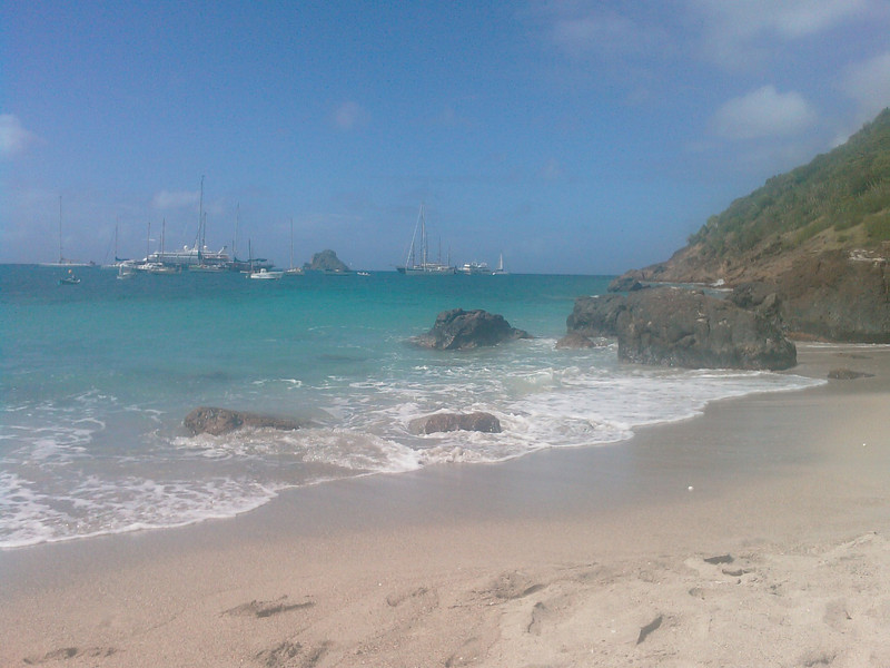 """St Barth 2008 - 8th day <br /> The weather was a bit more cloudy this morning, so we had first a walk at Marigot, Petit Cul de Sac and Grand Cul de Sac. Great beaches but more """"wild"""".<br /> <br /> After that, we were at Corossol Beach, great small beach, excellent for snorkeling!<br /> <br /> Dinner at """"home"""", based on Maya's to Go cattering. And a BIG self-made planteur :)"""