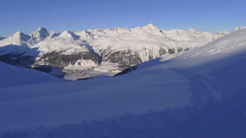 Piz Vadret and Piz Muragl skitour with Claudio