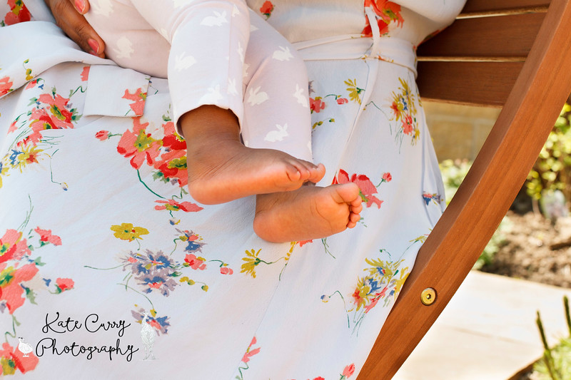 Baby feet, taken during a garden photoshoot of mother and baby, Lenzie