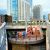Runners on the Pedestrian Bridge - Austin, Texas