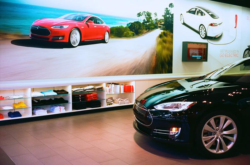 Tesla Showroom Glows - Austin, Texas