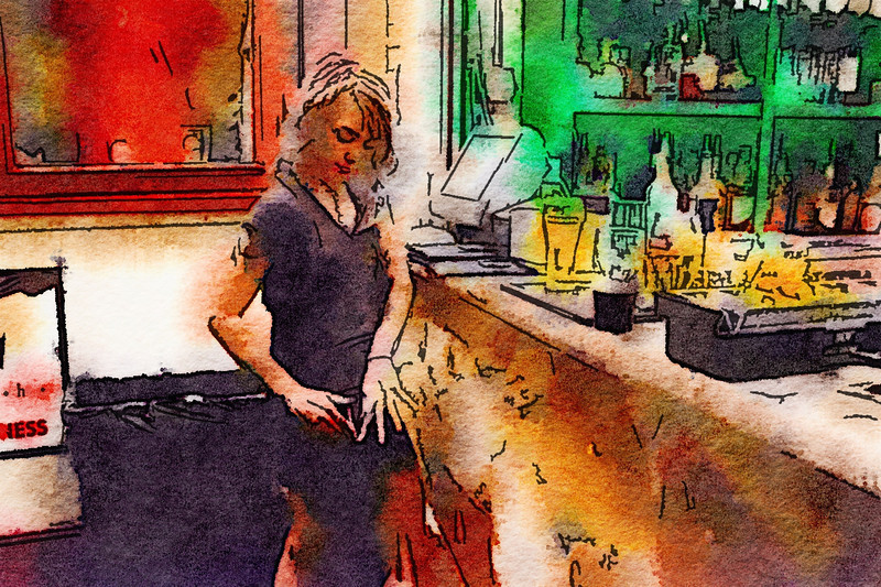 Drink and Click Watercolor #4
