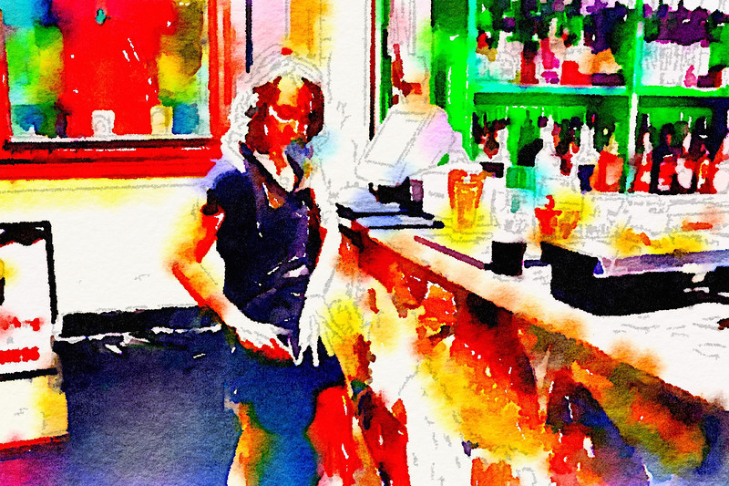 Drink and Click Watercolor #6