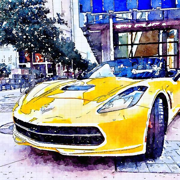 Corvette Watercolor