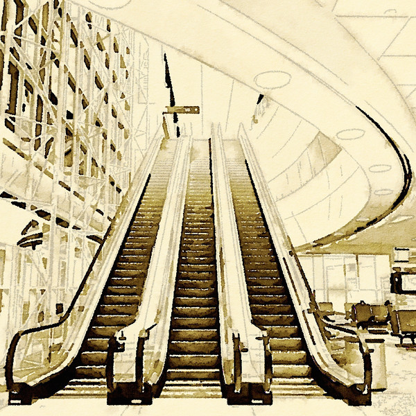 DFW Airport Watercolor #3