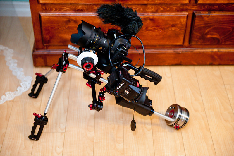 Wedding videography video DSLR camera setup