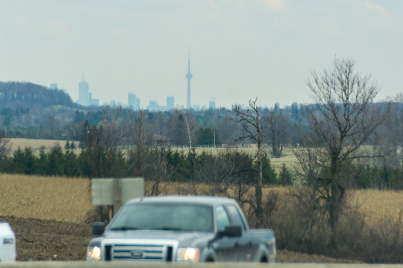 Almost there ... Theres the CN Tower....