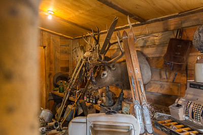 Random stuff inside The Radium Woodcarver Home. House of 1000 faces. This place is so cool and a different kind of attraction.  Unfortunately it burned down in 2018