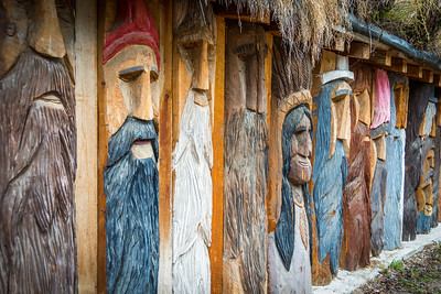 The Radium Woodcarver Home. House of 1000 faces. This place is so cool and a different kind of attraction.  Unfortunately it burned down in 2018
