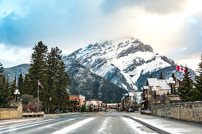 Banff early in the morning