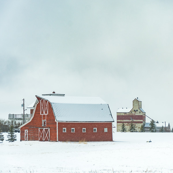 More barns in the snow