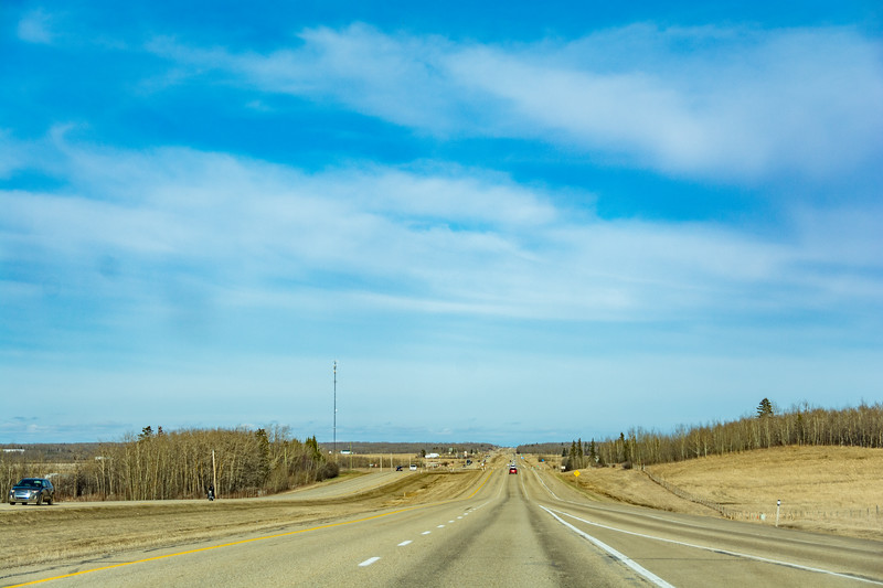 After the mountains, we headed to Edmonton. Its Flat