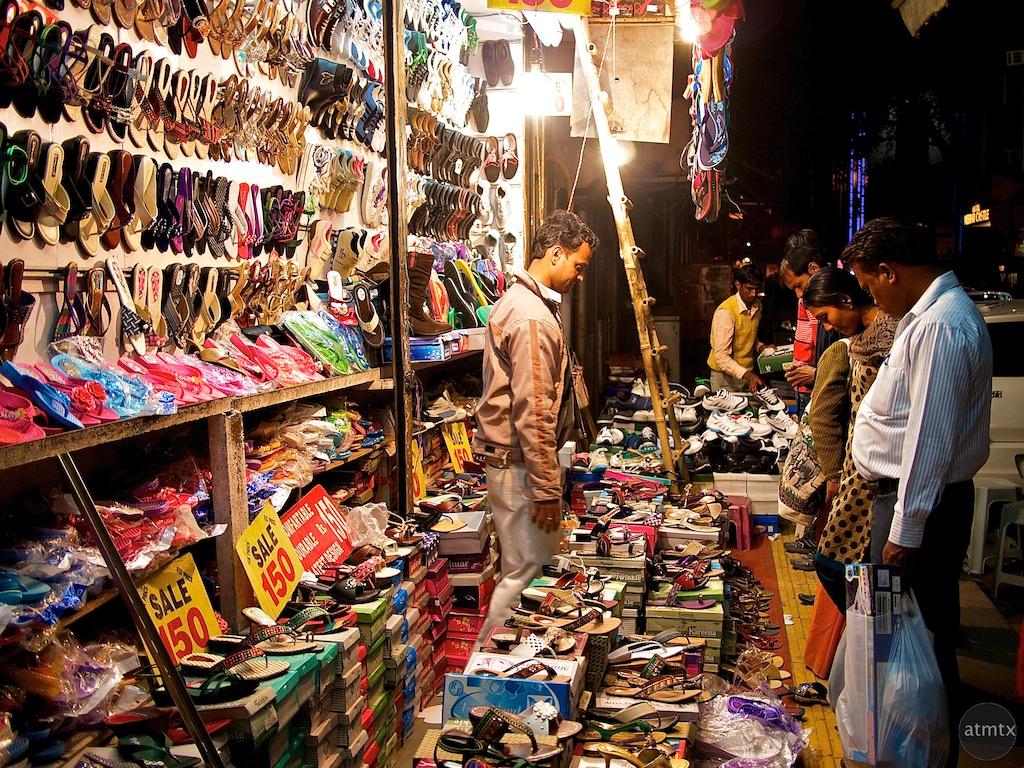 Multitude of Shoes, Street Market - Delhi, India