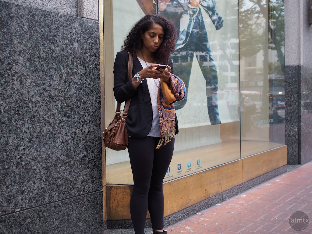 Checking In, Market Street - San Francisco, California