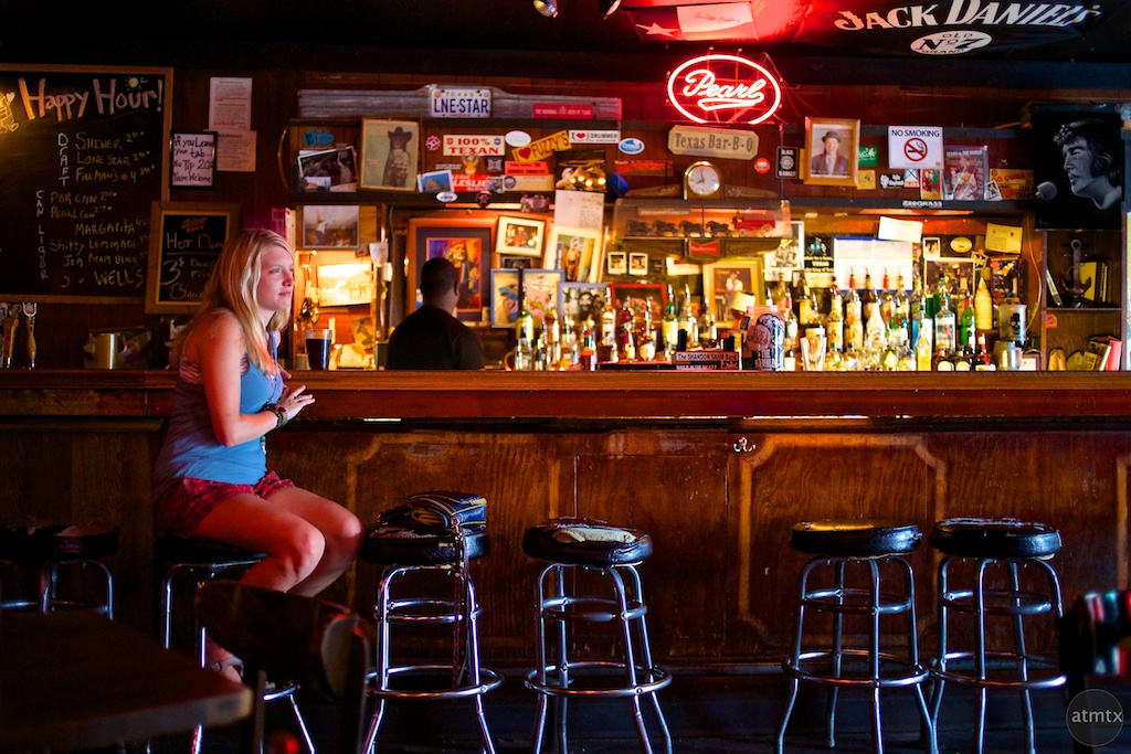 A Woman at the Bar, Hole in the Wall - Austin, Texas